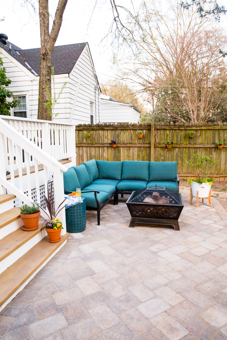 Adding a DIY Paver Patio to the Backyard - Live Free Creative Co