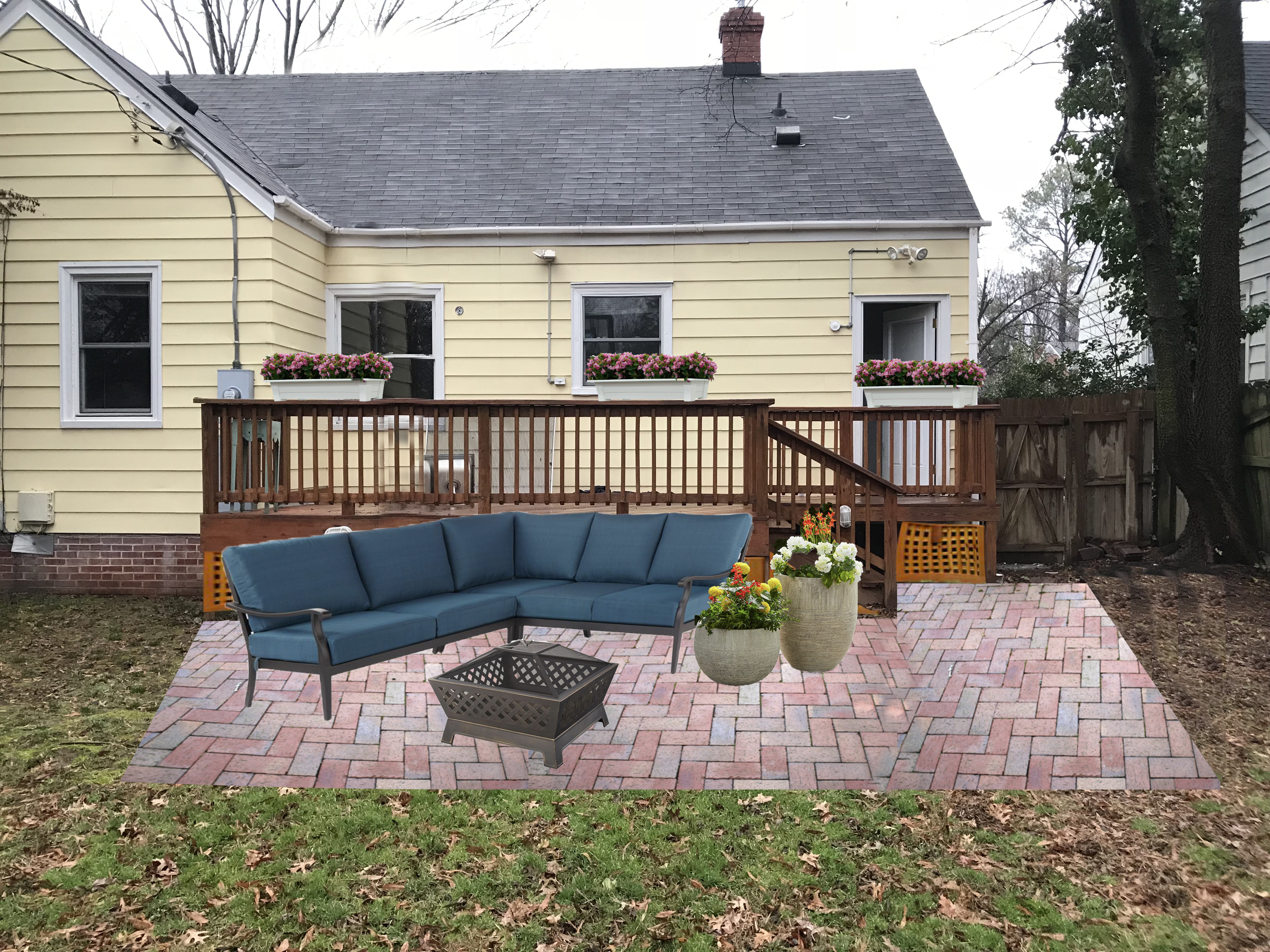 Adding a DIY Paver Patio to the Backyard - Live Free ... on Diy Back Patio Ideas id=95422