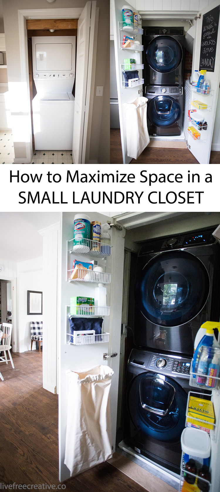 Maximize Space In A Small Laundry Closet Live Free