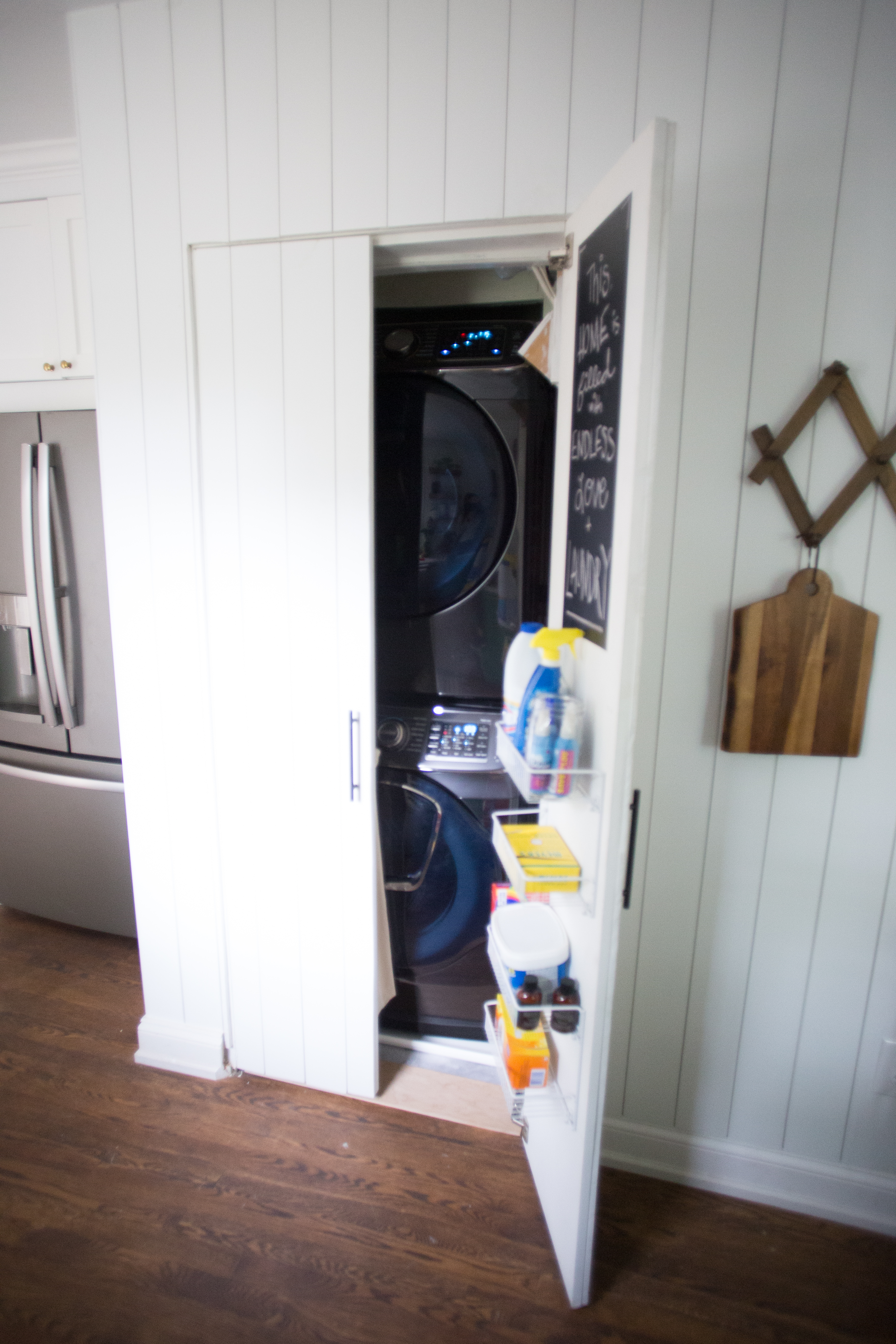 Maximize Space in a Small Laundry Closet - Live Free Creative Co