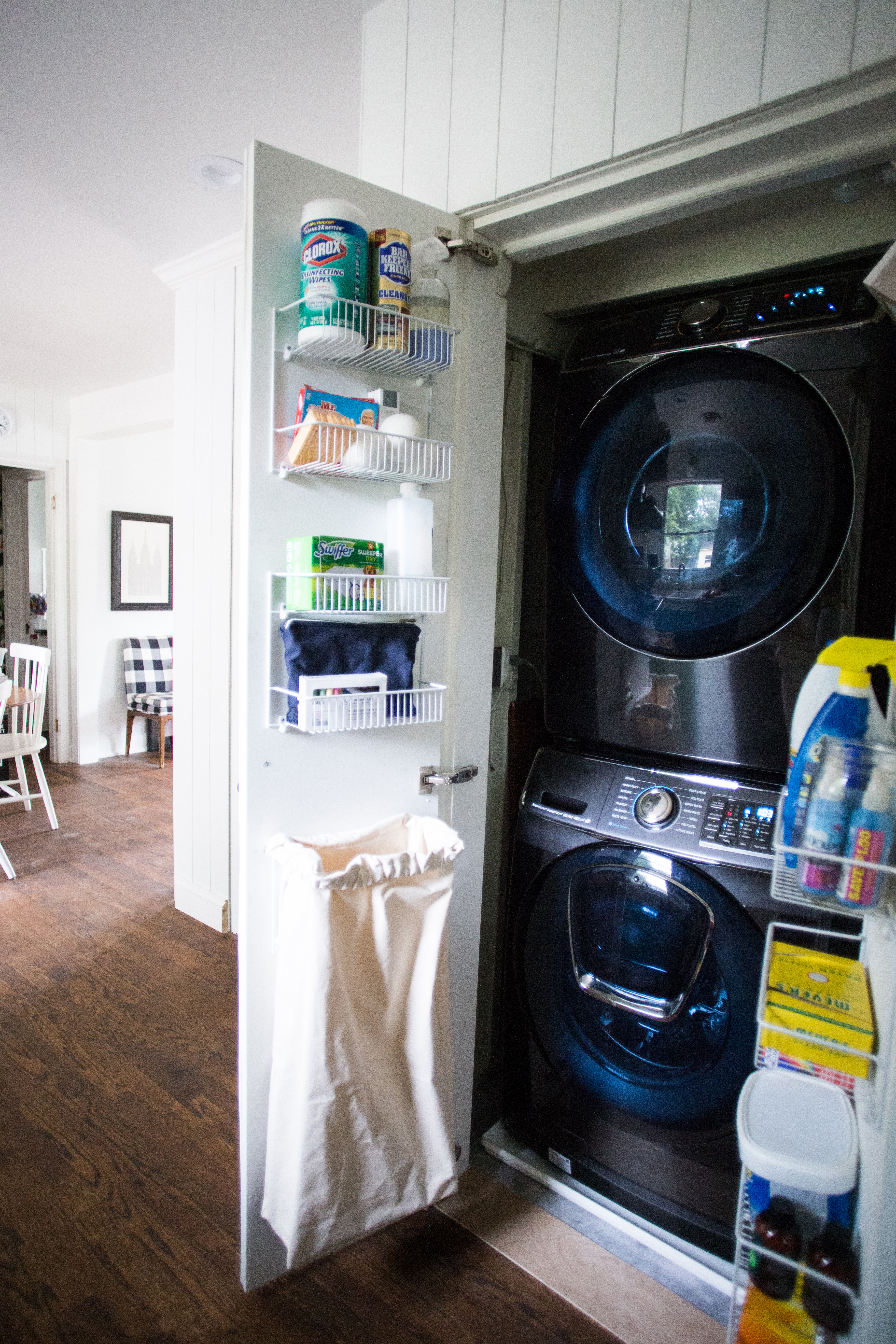 Maximize Space In A Small Laundry Closet Live Free Creative Co