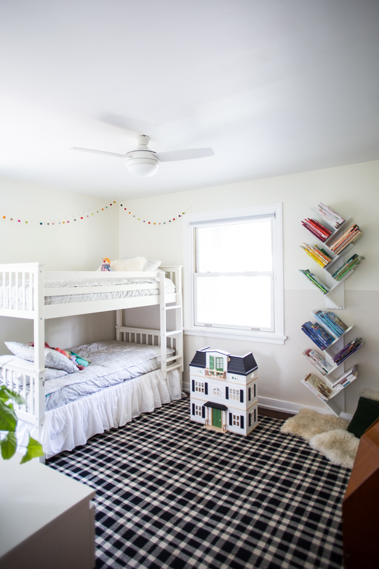 Two-toned Boy Girl Shared Bedroom - Live Free Creative Co