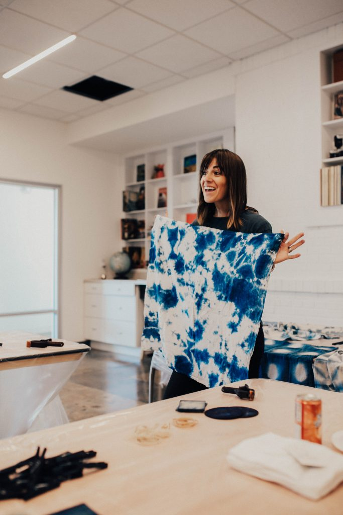 Indigo + Shibori digital workshop